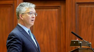 Brady Toensing argues his case before the Vermont Supreme Court.