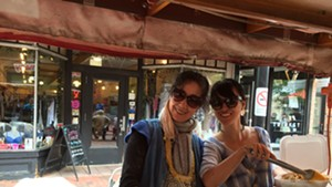 Hong Yu and Lisa Li at Hong's Dumpling Cart