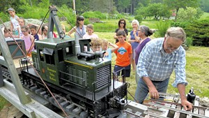 Mark Smith at the railroad turntable