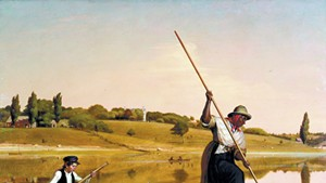 """Eel Spearing at Setauket"" (1845) by William Sidney Mount"