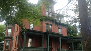 The Phi Gamma Delta house is being readied for Champlain College students.