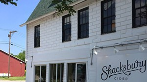 Shacksbury's tasting room in Vergennes