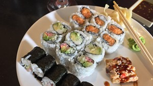 Asian Bistro's sushi lunch