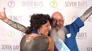 "Dierdra Tara Michelle and ""Bald Bill"" at the 2011 Daysies Awards"