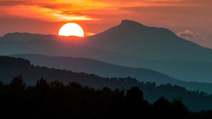 Camel's Hump at sunset