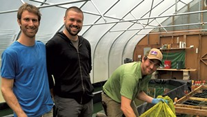 Left to right: Greg Soll, Christopher Miller and Aaron DellaCroce of Northern Spirulina
