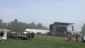 The concert field for Shrinedom 2017 in Irasburg