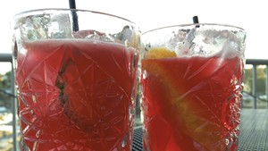 Weaver (left) and Abdon't cocktails