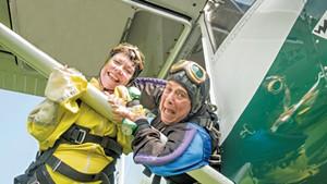 Betsy Conlon (left) and Janet Stambolian