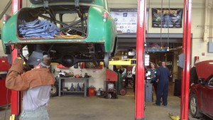 Students Learning Auto Repair at the North Country Career Center in Newport