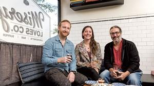 Left to right: Dan White, Meg Randall and Michael Nedell