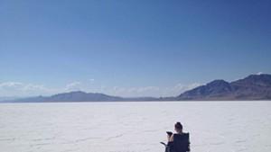 Viktoria Strecker taking in the Salt Flats on her roadtrip.