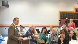 Current GOP chair David Sunderland addresses fellow Republicans in 2013