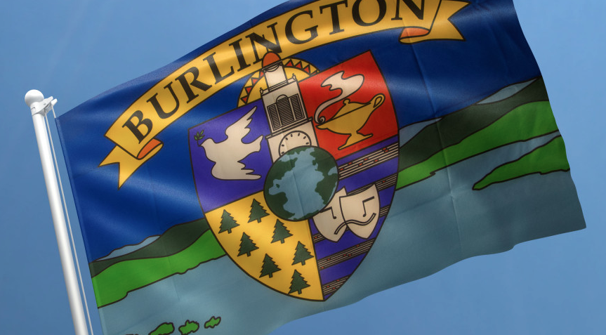 The previous flag - COURTESY OF BURLINGTON CITY ARTS