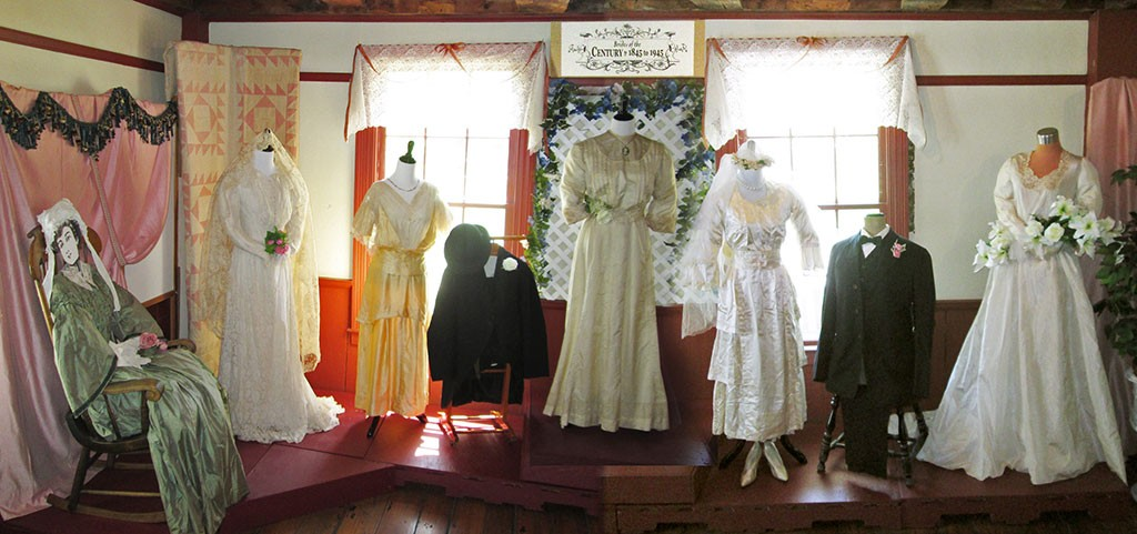 "The ""Brides of the Century"" exhibit featured gowns from 1845-1945 - COURTESY OF JIM DODDS"