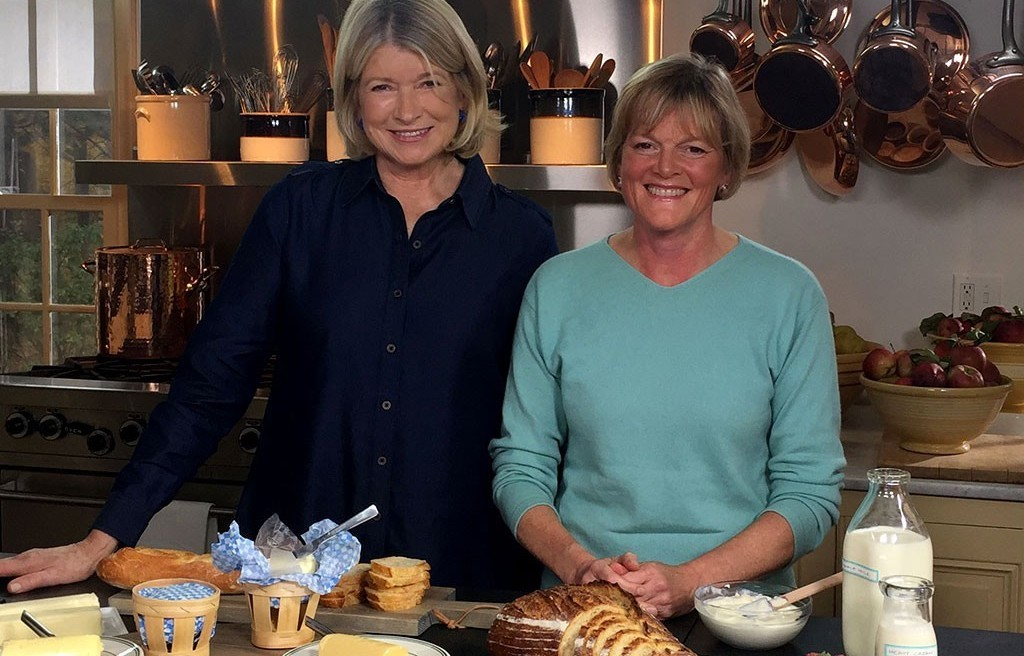 Allison Hooper (right) on Martha Bakes with Martha Stewart - COURTESY OF VERMONT CREAMERY