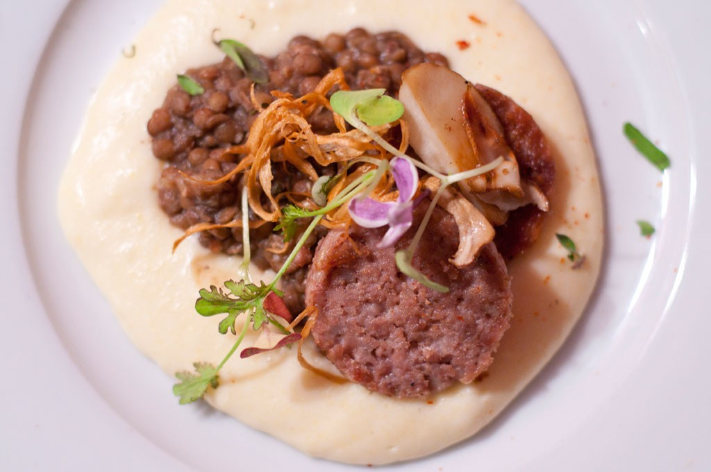 Cotechine, lentils and polenta - HANNAH PALMER EGAN