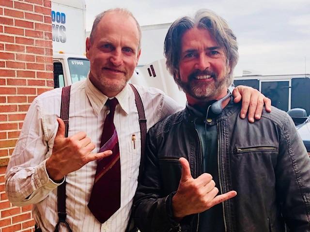 John Fusco with Woody Harrelson - COURTESY OF JOHN FUSCO