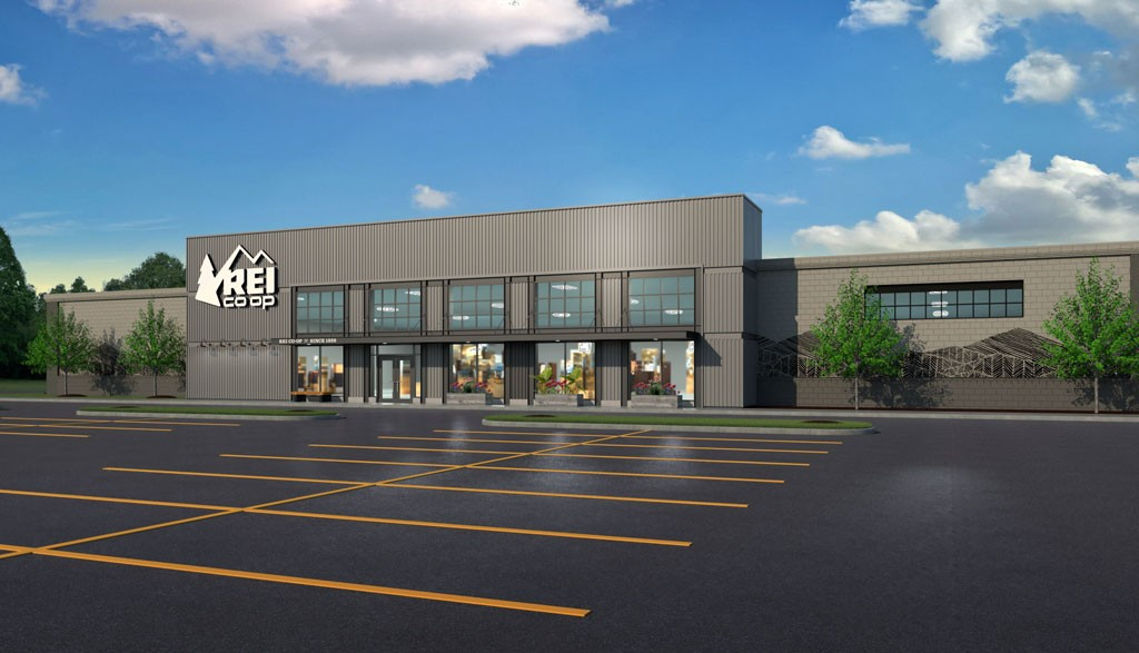 Rendering of the new REI store - COURTESY TOWN OF WILLISTON