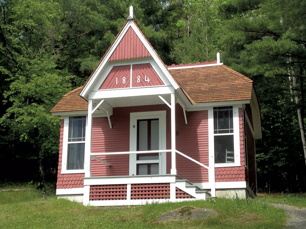 Little Red, a healing cottage built in 1884 - COURTESY OF THE TRUDEAU INSTITUTE