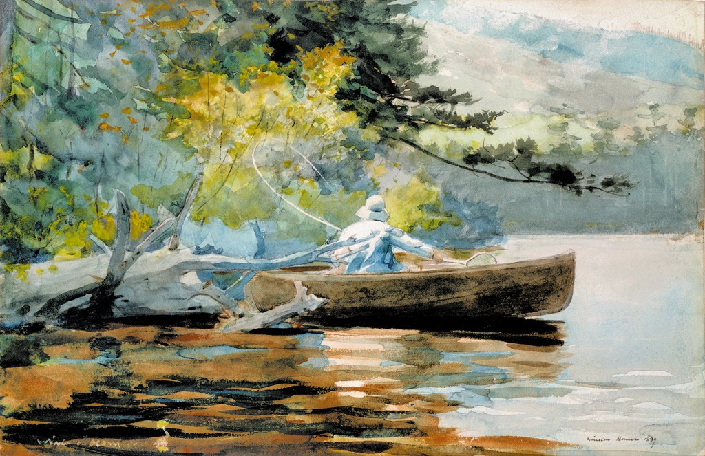 """""""A Good One,"""" Winslow Homer - COURTESY OF THE HYDE COLLECTION"""