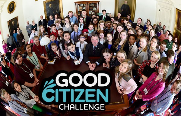 The Good Citizens met with Gov. Phil Scott in his ceremonial office - JEB WALLACE-BRODEUR