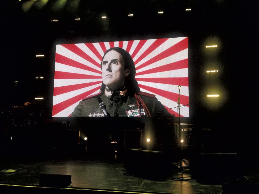 Weird Al Yankovic projected onstage at the Flynn Center - BOBBY HACKNEY JR.