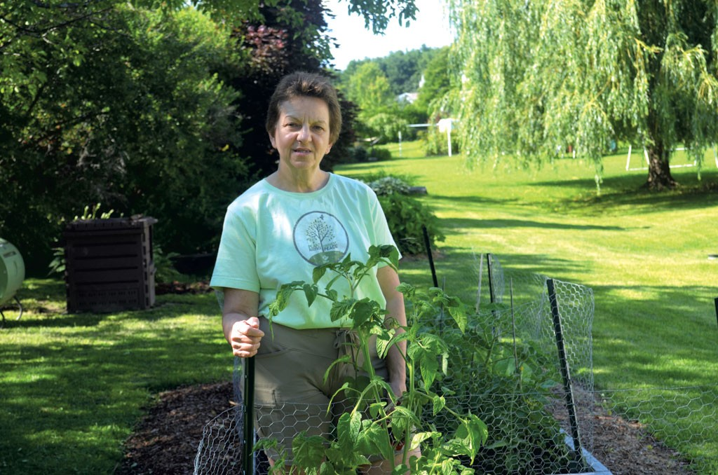 Rosanne Greco in her garden - MOLLY WALSH