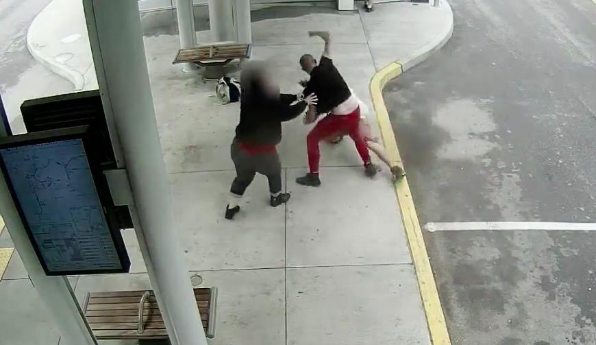 The alleged assault - SCREENSHOT