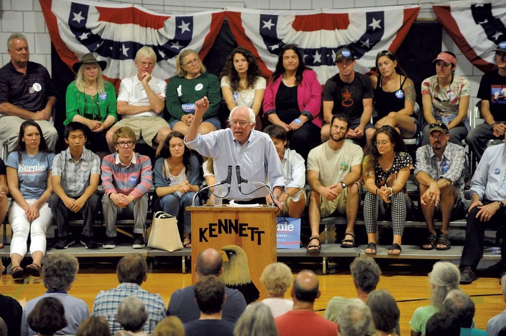 Sanders in Conway, N.H. - JAMIE GEMMITI