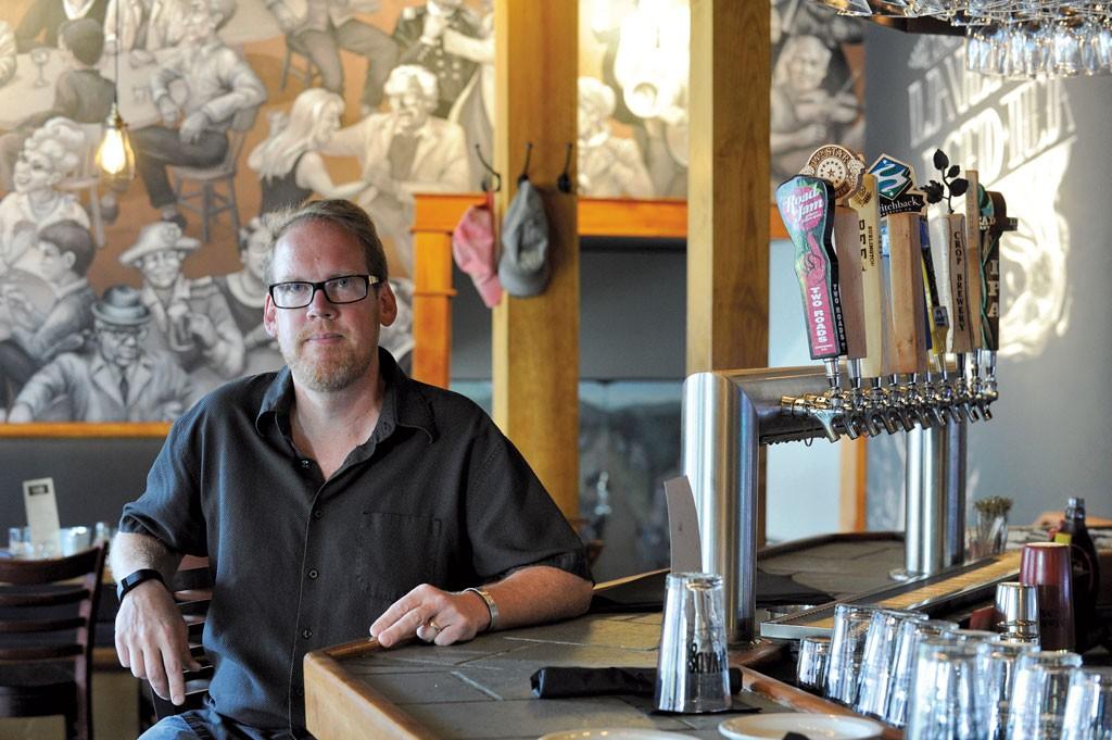 Jeff Larkin, owner of Arvads Grill - JEB WALLACE-BRODEUR