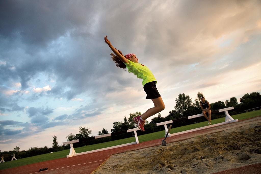 Quincy Massey-Bierman practicing long jump - JAMES BUCK
