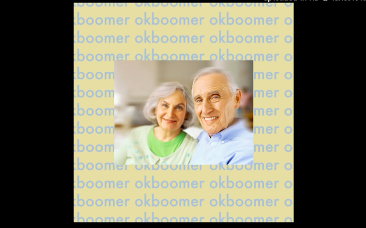 """ok boomer"" record cover"