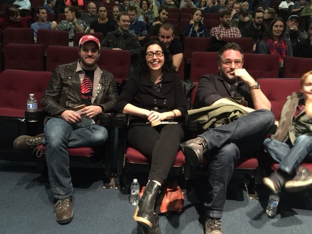 The Sleepless in Burlington judges: From left: Mark Covino, Eva Sollberger, Colin Trevorrow - COURTESY OF KAREN GOLDEN