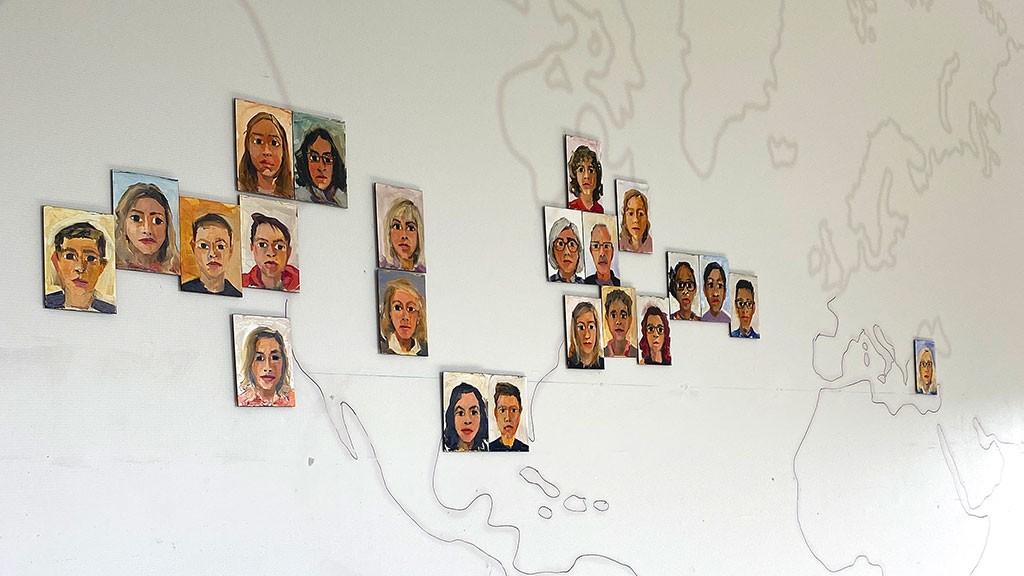 A map display of Rebecca Kinkead's virtual portrait series - REBECCA KINKEAD