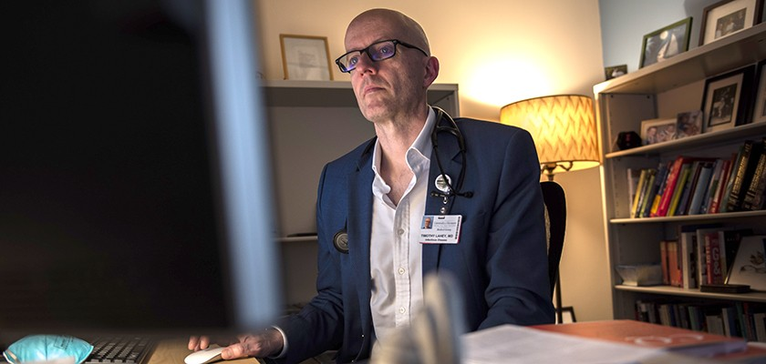 Tim Lahey, MD, an infectious disease doctor and professor of medicine at the University of Vermont's Larner School of Medicine and the University of Vermont Medical Center - UVM HEALTH NETWORK
