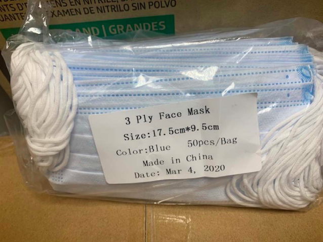 Masks sold to Central Vermont Medical Center - COURT FILINGS
