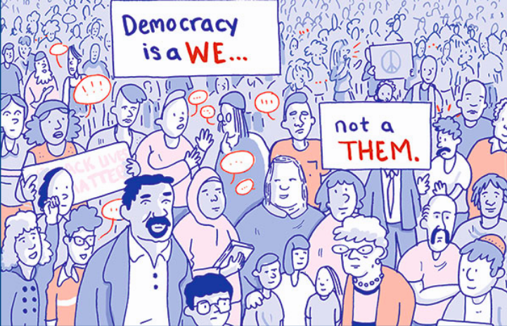 From 'This Is What Democracy Looks Like: A Graphic Guide to Governance' by the Center for Cartoon Studies - DRAWINGS BY DAN NOTT AND KEVIN CZAP