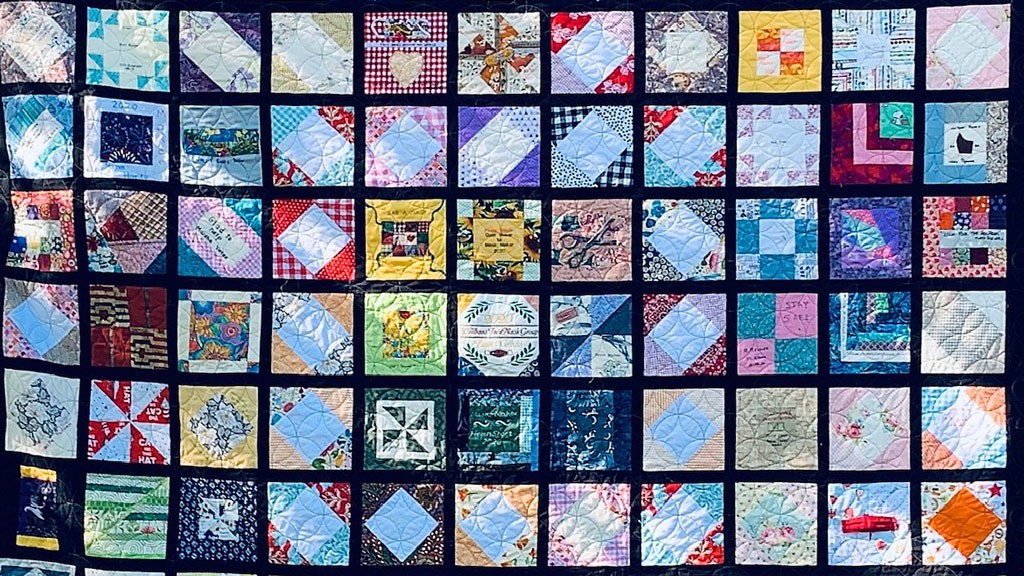 """The St. Albans Face Mask Group's """"Quilt of Hope"""" - COURTESY OF PAM CROSS"""