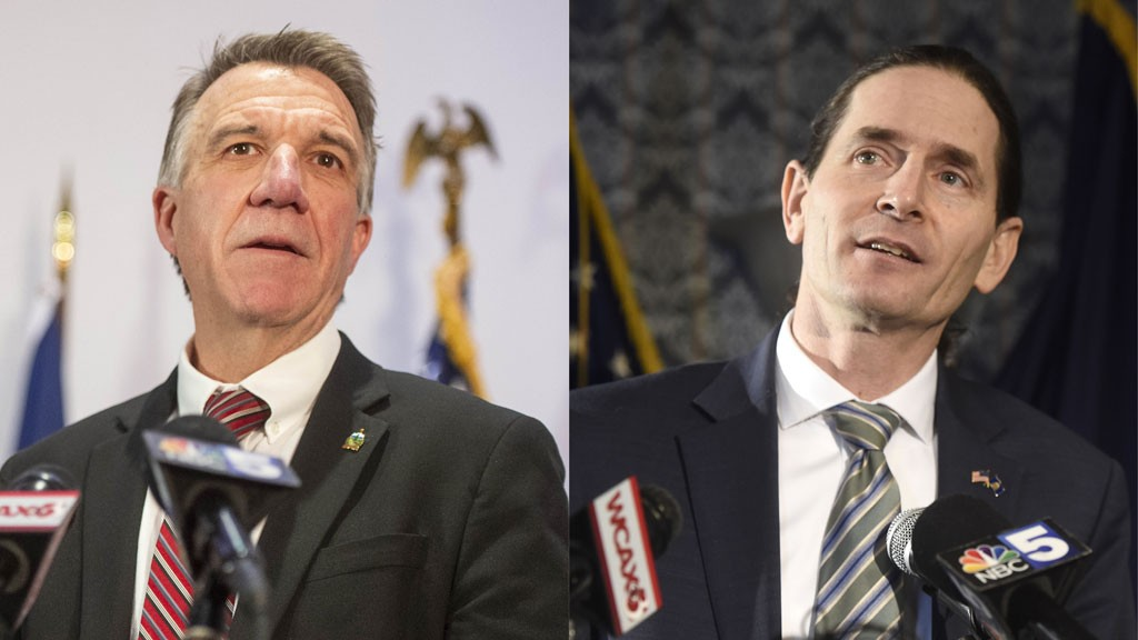 Gov. Phil Scott and Lt. Gov. David Zuckerman - FILE: JEB WALLACE-BRODEUR
