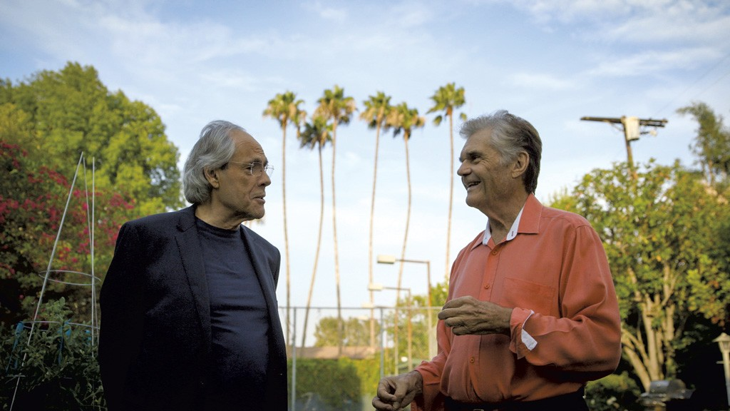 "Robert Klein  (left) with Fred Willard, from ""Robert Klein Still Can't Stop His Leg"" - COURTESY OF ADIRONDACK FILM SOCIETY"
