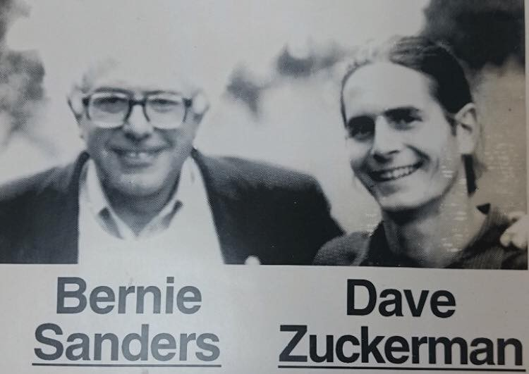 Undated photo of Sen. Bernie Sanders and Sen. David Zuckerman from a previous campaign - COURTESY: DAVID ZUCKERMAN