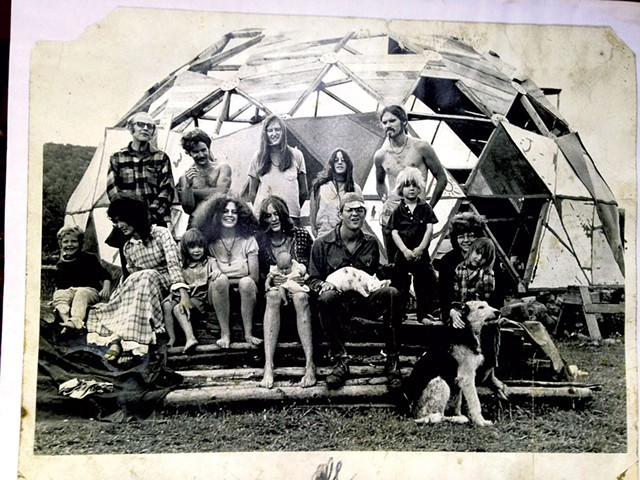 Mullein Hill commune, West Glover 1971 - COURTESY OF LORAINE JANOWSKY/PUBLIC AFFAIRS