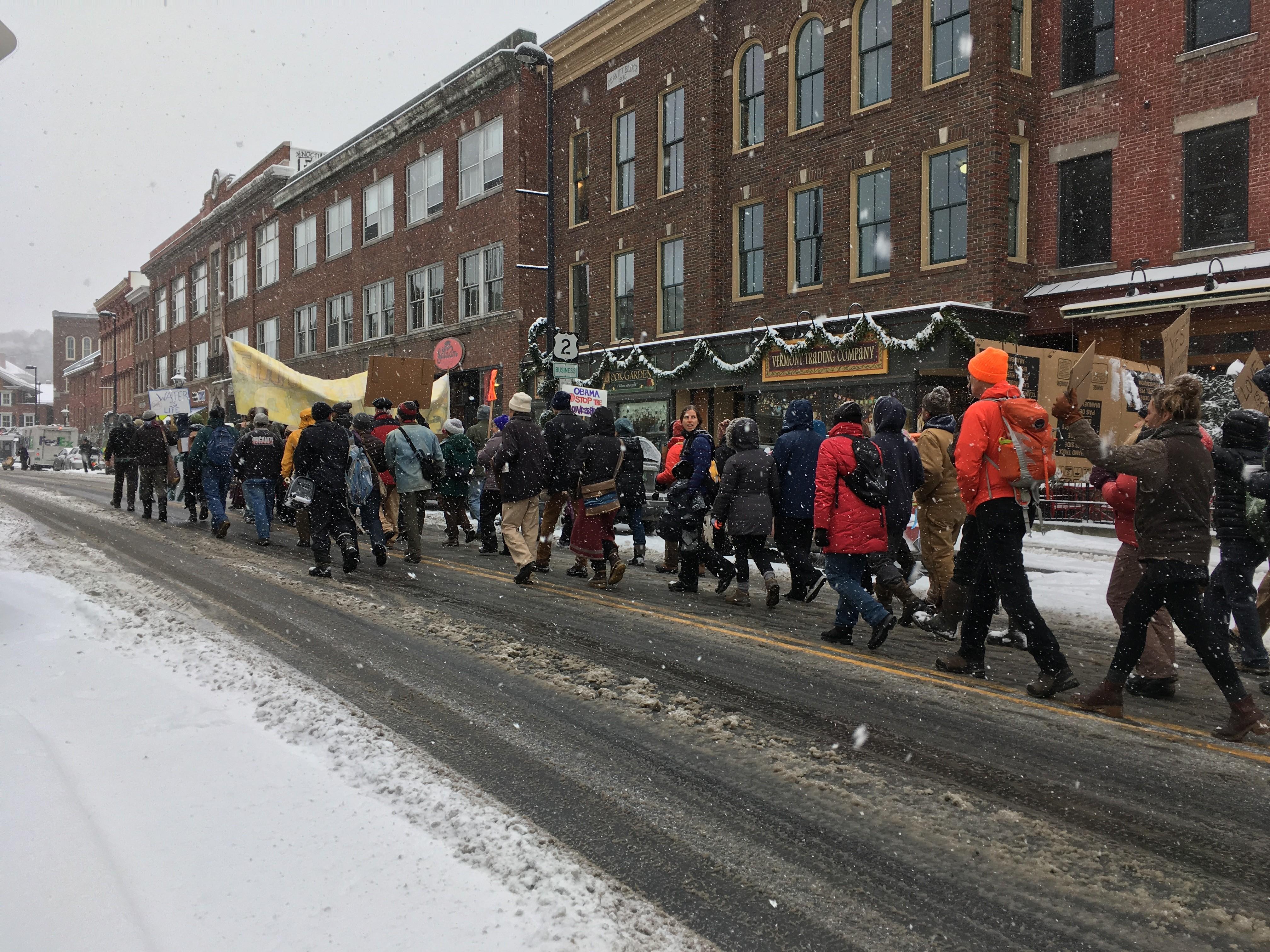 Dakota Access Pipeline Opponents March on TD Bank in Montpelier