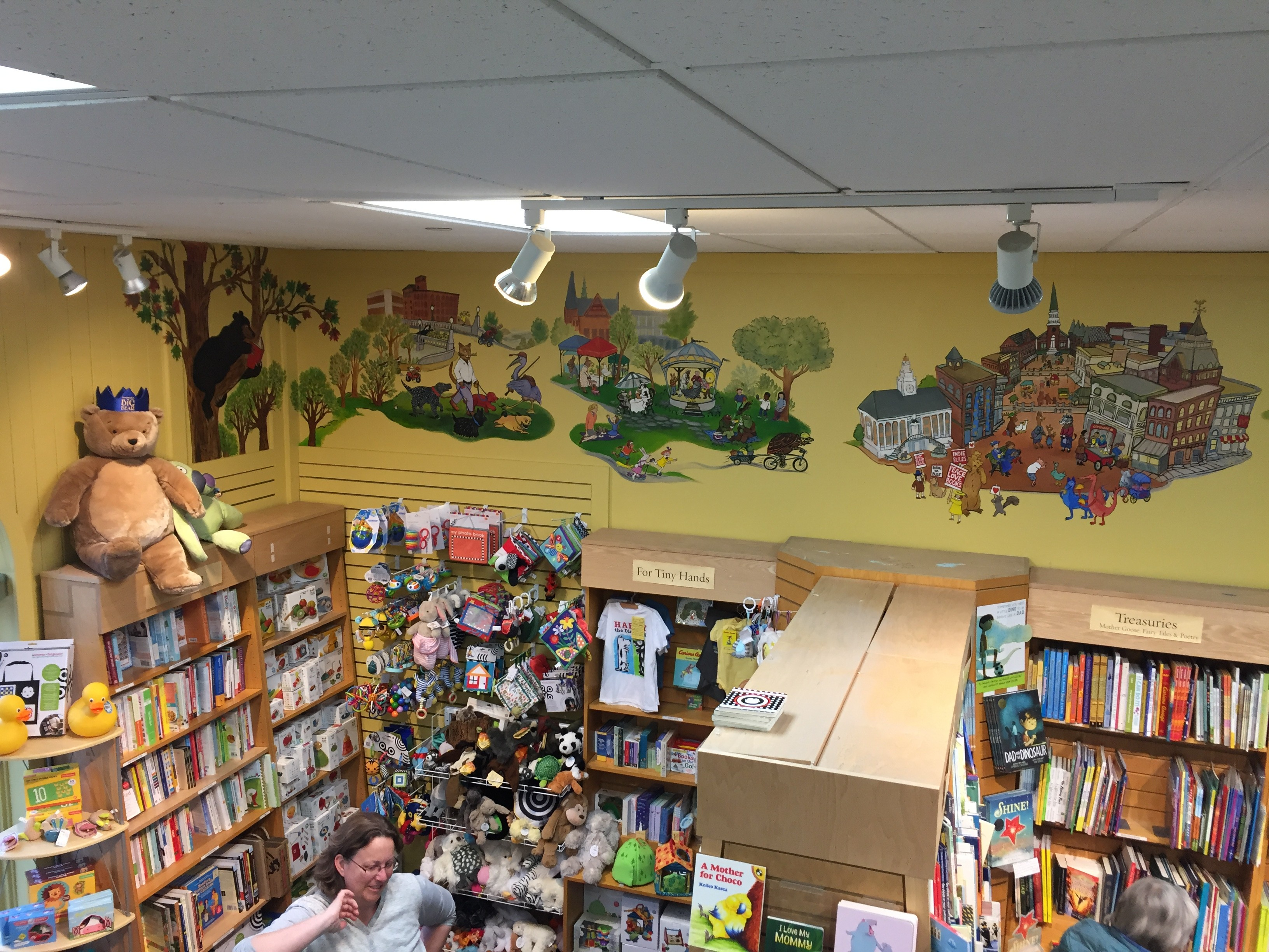 33e4fadb1 click to enlarge Mural by Kristin Richland at Phoenix Books Burlington  (detail) - MARGOT HARRISON