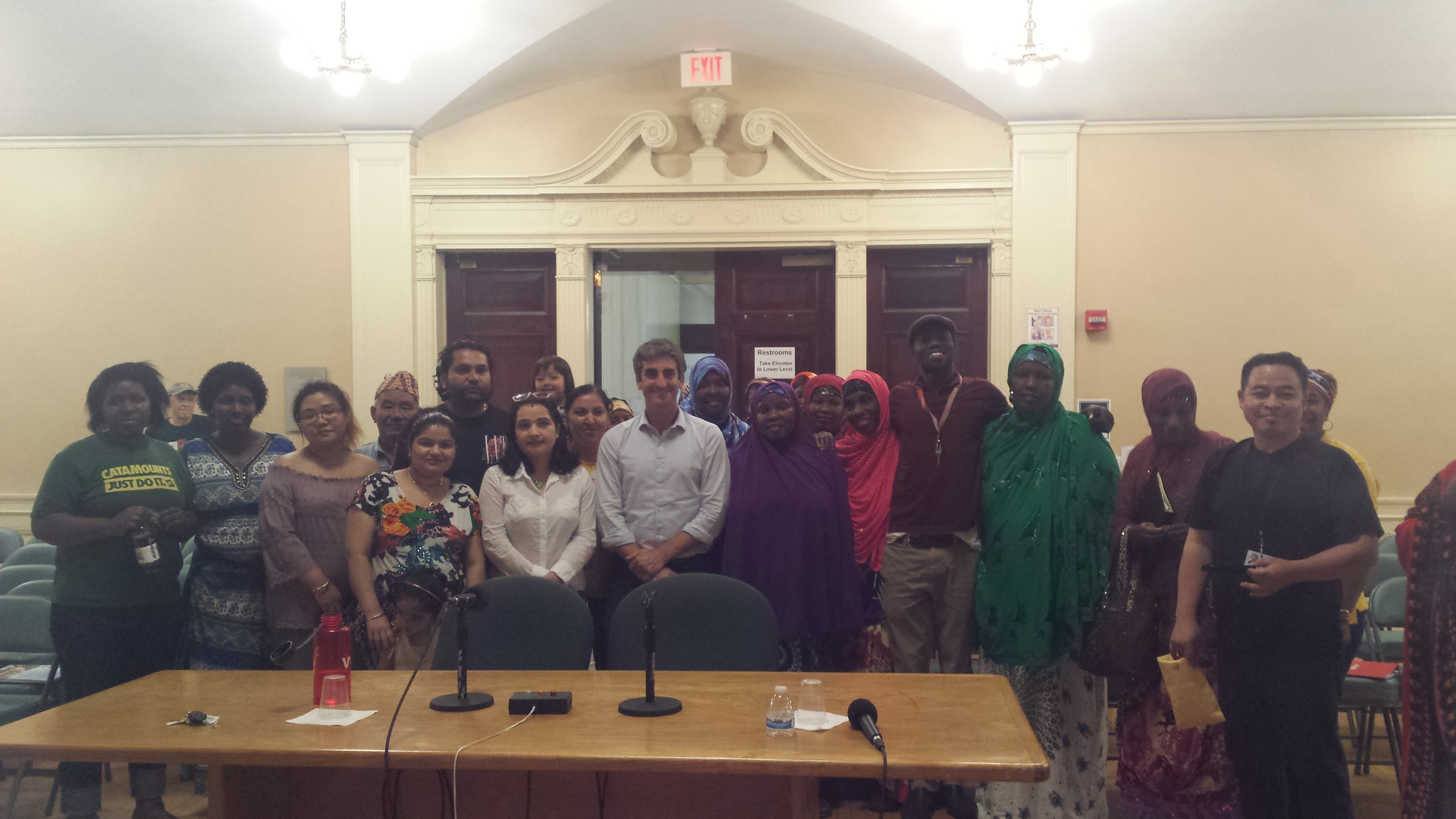 click to enlarge Parent University students with Mayor Miro Weinberger at  the City Hall - KYMELYA SARI