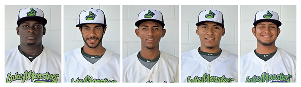 Left to right: Wandisson Charles, Jesus Lage, Abdiel Mendoza, Jean Ruiz, Oscar Tovar - COURTESY OF VERMONT LAKE MONSTERS