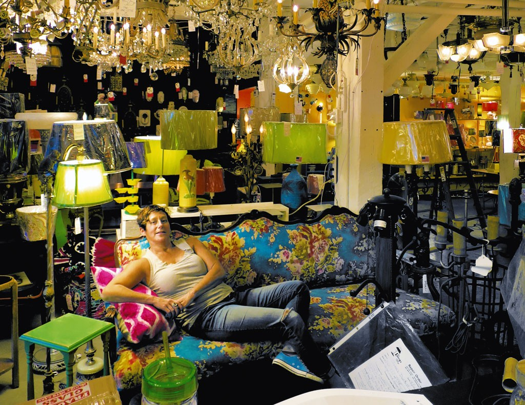 Click To Enlarge The Lamp Shop Owner Liz Segal At Her Store On Pine Street  In Burlington   MATTHEW
