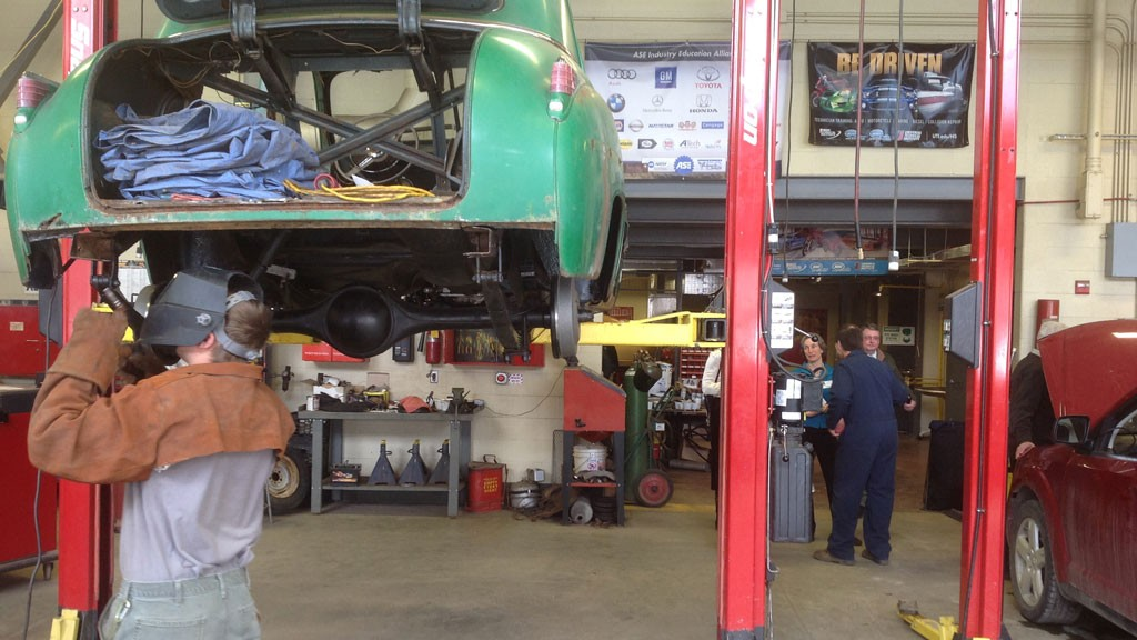 Students Learning Auto Repair at the North Country Career Center in Newport - COURTESY OF THE VERMONT DEPARTMENT OF EDUCATION