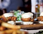Fried chicken biscuits at Prohibition Pig
